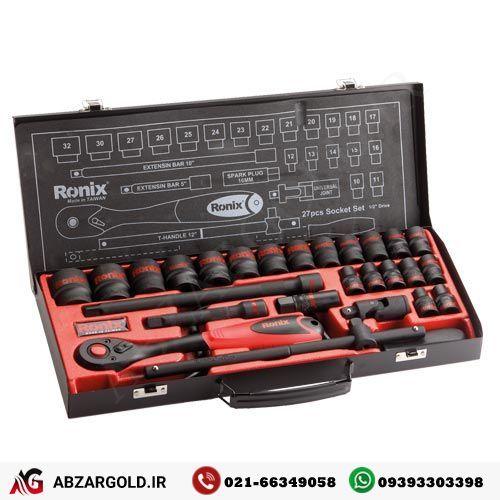 جعبه بکس 27 پارچه 1/2 اینچ رونیکس RH-2627