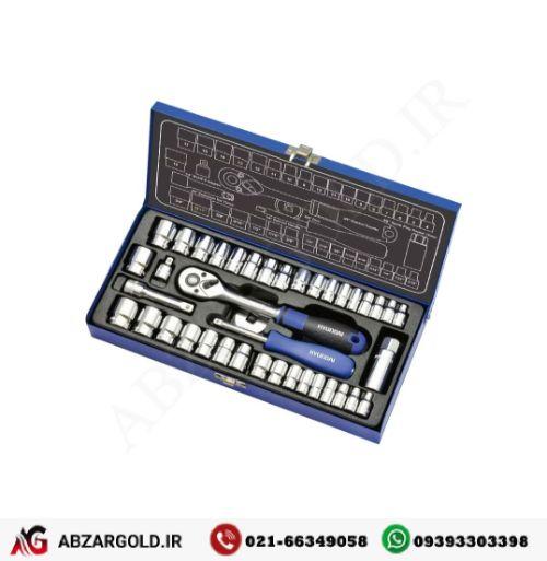 جعبه بکس 40 پارچه 1/4 و 3/8 اینچ هیوندای SS-3840